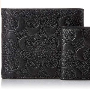 COACH Compact Leather Wallet